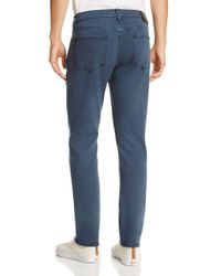 PAIGE - Blue Transcend Lennox Skinny Fit Jeans Overdye Denim In Vintage Almafi for Men - Lyst