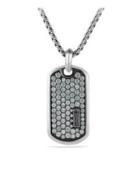 David Yurman - Metallic Pavé Tag With Gray Sapphires for Men - Lyst