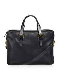 Cole Haan | Black Brayton Pebbled Leather Briefcase for Men | Lyst