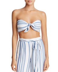 LOST AND WANDER - Blue Lost And Wonder Marina Bandeau Top - Lyst