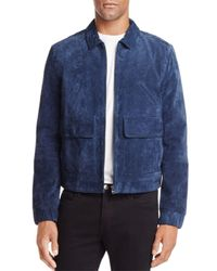 Blank NYC - Blue Suede Coach's Jacket for Men - Lyst