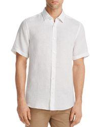 BOSS - White Luka Linen Regular Fit Button-down Shirt for Men - Lyst
