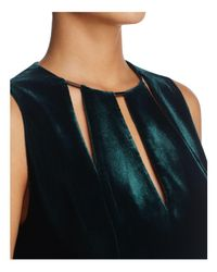 Elie Tahari - Blue Jemra Velvet Sheath Dress - Lyst
