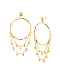 Gorjana - Metallic Sol Drape Hoop Earrings - Lyst