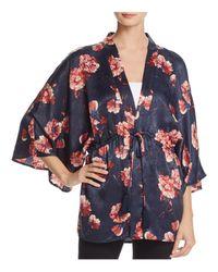 Cotton Candy - Purple Floral Print Kimono - Lyst
