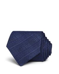 John Varvatos - Blue Heathered Crosshatch Classic Tie for Men - Lyst