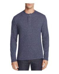 Surfside Supply - Blue Long Sleeve Henley Tee for Men - Lyst