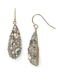 Alexis Bittar   Gray Lucite Crystal Dust Dewdrop Earrings   Lyst