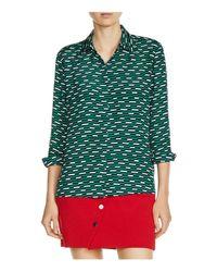 Maje | Green Clelia Printed Shirt | Lyst