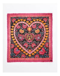 Fraas - Brown Love Square Scarf - Lyst