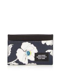 Jack Spade | Blue Poppy Floral Card Case | Lyst