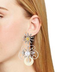 DANNIJO - Metallic Sullivan Earrings - Lyst