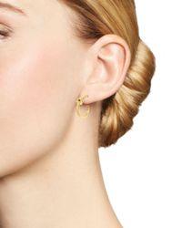 Bloomingdale's - Metallic 14k Yellow Gold Knotted Hoop Earrings - Lyst