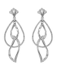 Lagos - Metallic Sterling Silver Caviar Double Marquis Earrings - Lyst