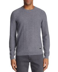 Armani - Gray Ribbed Cashmere Sweater for Men - Lyst