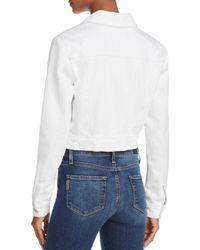J Brand - Harlow White Shrunken Jacket - Lyst