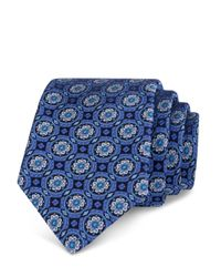 Ted Baker - Blue Circle Medallion Classic Tie for Men - Lyst