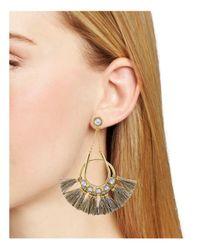 Rebecca Minkoff | Metallic Tassel Chandelier Earrings | Lyst