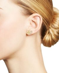 Ippolita - Metallic Cherish Diamond & 18k Yellow Gold Cluster Stud Earrings - Lyst