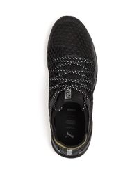 PUMA - Black Men's Ignite Limitless Netfit Knit Lace Up Sneakers for Men - Lyst