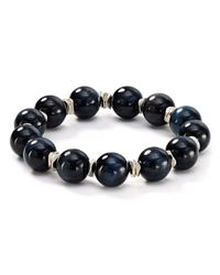 Bourbon and Boweties - Black Smokey Stretch Bracelet - Lyst