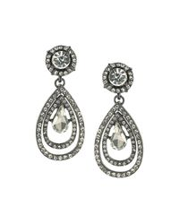 ABS By Allen Schwartz - Metallic Pavé Teardrop Earrings - Lyst