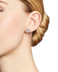 Adina Reyter - Metallic 14k Yellow Gold Pavé Diamond Large Disc Stud Earrings - Lyst