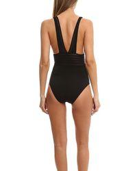 La Perla - Black Full Piece Swimsuit - Lyst