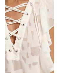 IRO - White Gilka Top - Lyst