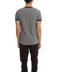Todd Snyder - Gray Short Sleeve Applique Stripe Tee for Men - Lyst