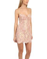 For Love & Lemons - Pink Bumble Bustier Dress - Lyst