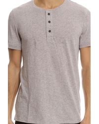 Vince - Gray Henley Ls for Men - Lyst