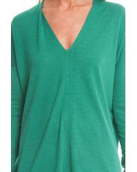 Vince - Green V Neck Sweater - Lyst