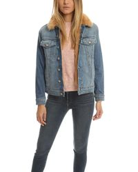 Mother - Blue Furry Drifter Jacket - Lyst