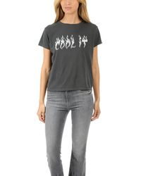 Mother - Black The Boxy Goodie Goodie Tee - Lyst