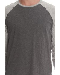 Vince - Gray Cotton Baseball Ls for Men - Lyst