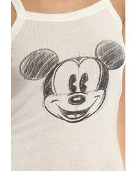 David Lerner - White Mickey Head Sketch Rib Tank - Lyst