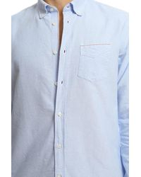 Officine Generale - Blue Button Down Japanese Oxford Selvedge for Men - Lyst