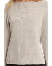 Helmut Lang - Gray Cashmere Cotton Draped Pullover - Lyst