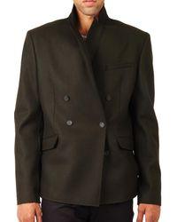 Balmain - Pierre Balmain Double Breasted Wool Jacket Black for Men - Lyst