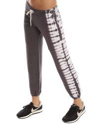 Monrow - Gray Border Tie Dye Vintage Sweatpant - Lyst