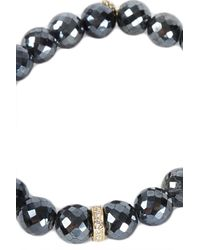 Sydney Evan - Black Rondelle Yellow Gold Charm Bracelet - Lyst
