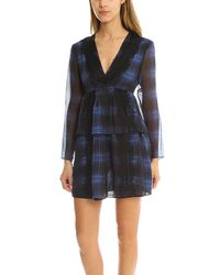 Thakoon | Blue Addition Lace Striped Dress | Lyst