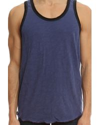 Todd Snyder - Blue Solid Ringer Tank for Men - Lyst