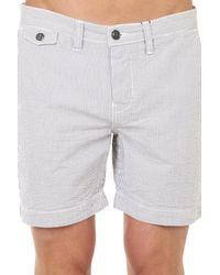 Woolrich - Blue Dock Stripe Short for Men - Lyst