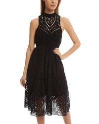 Zimmermann - Black Harlequin Broderie-anglaise Cotton Midi Dress - Lyst