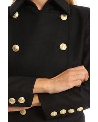 Balmain - Black Long Coat - Lyst