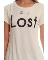 Wildfox - White Totally Lost Tee - Lyst