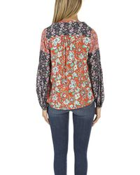 FRAME - Multicolor Frame Chevron Piped Blouse - Lyst