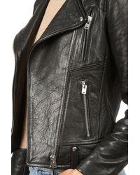 IRO | Black Jamie Biker Jacket | Lyst